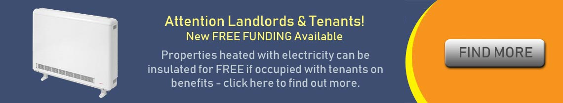 Free home insulation for Landlotrds
